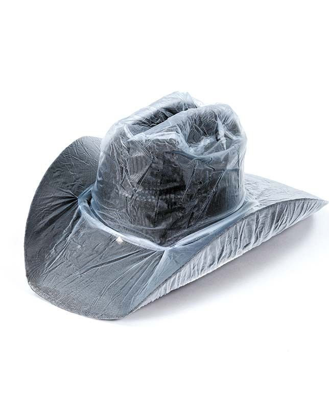 Do you ever get caught in the rain  Protect your favorite cowboy hat from getting  wet with this clear vinyl hat cover. Just slip the convenient cover over ... 10d85242422c