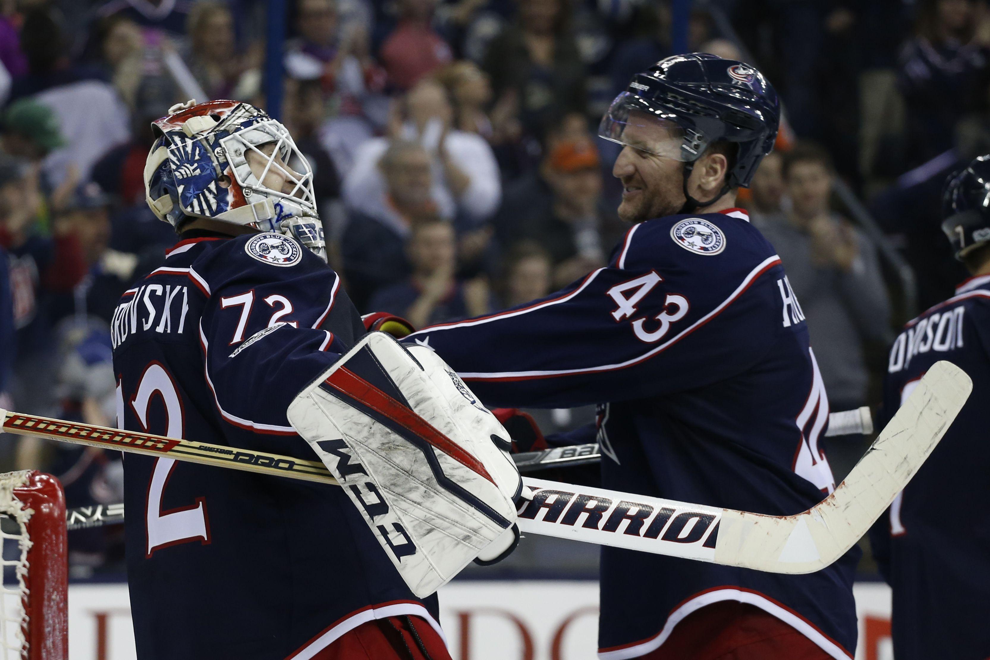Bobrovsky Terrific Again As Blue Jackets Beat Flyers 1 0 Columbus Blue Jackets Philadelphia Flyers Scott Hartnell