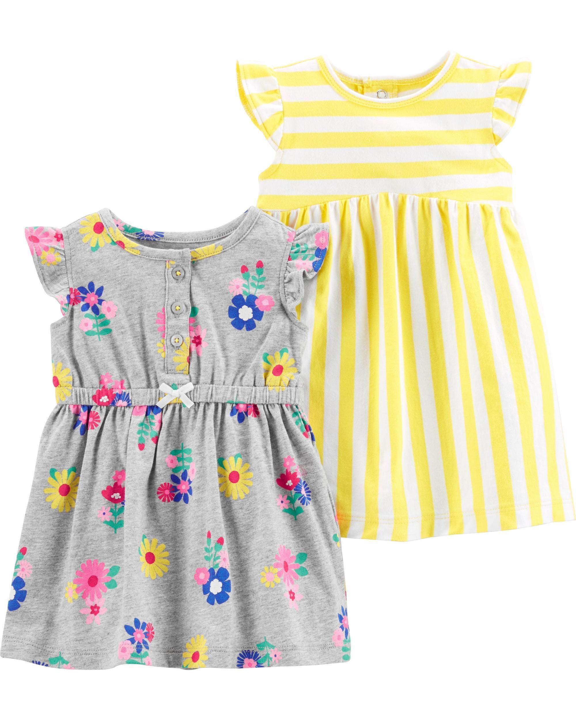Details about  /2PCS baby Girls outfits stripe Tops Condole belt dress kid Girls Clothes set