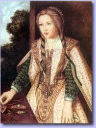 """DOÑA TERESA ENRIQUEZ +1526,  prima hermana de D. Fernando el Rey Católico, tía de San Francisco de Borja y San Juan de Ribera. Llamada por el Papa """"La Loca del Sacramento"""" por su especial devoción a la Eucaristía."""