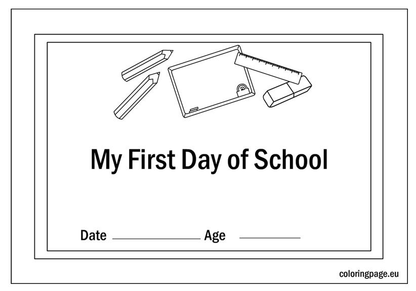 first day school certificate coloring - First Day Of School Coloring Sheets For Kindergarten