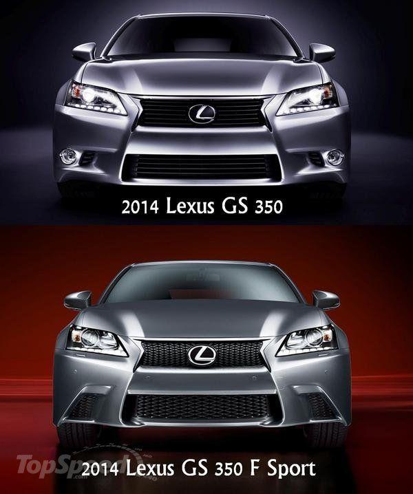 2014 lexus gs350 showing difference between standard and f sport front fascias garage pinterest. Black Bedroom Furniture Sets. Home Design Ideas