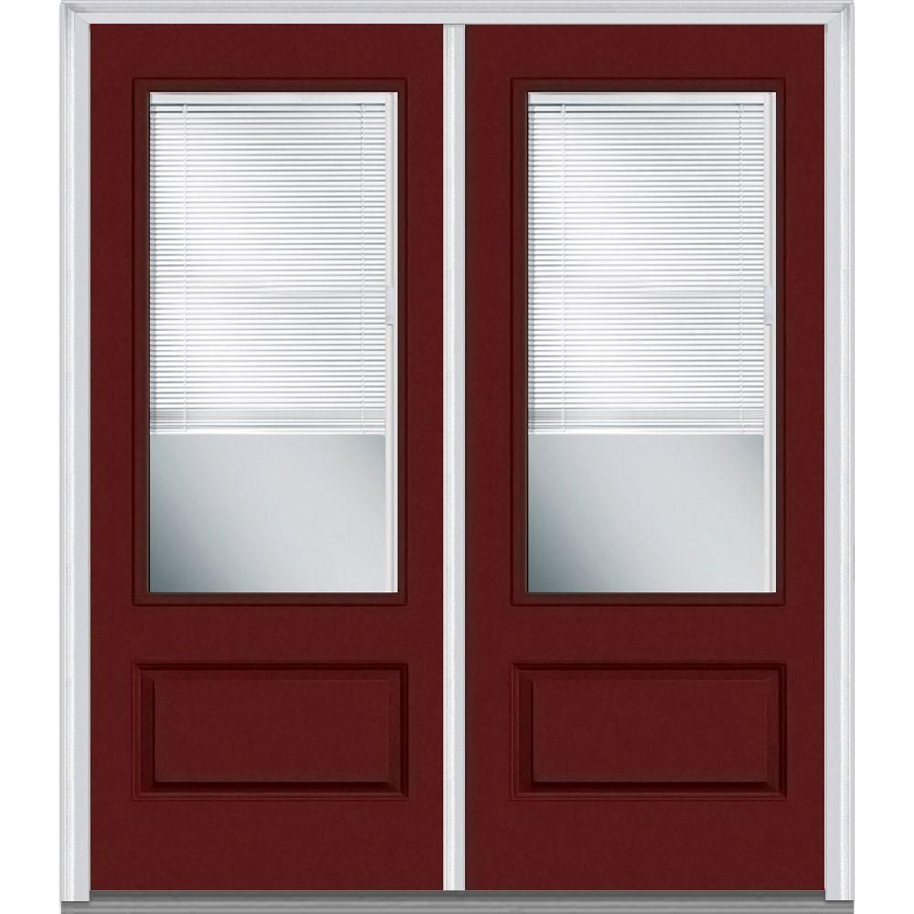 Mmi door in x in internal blinds clear lefthand lite