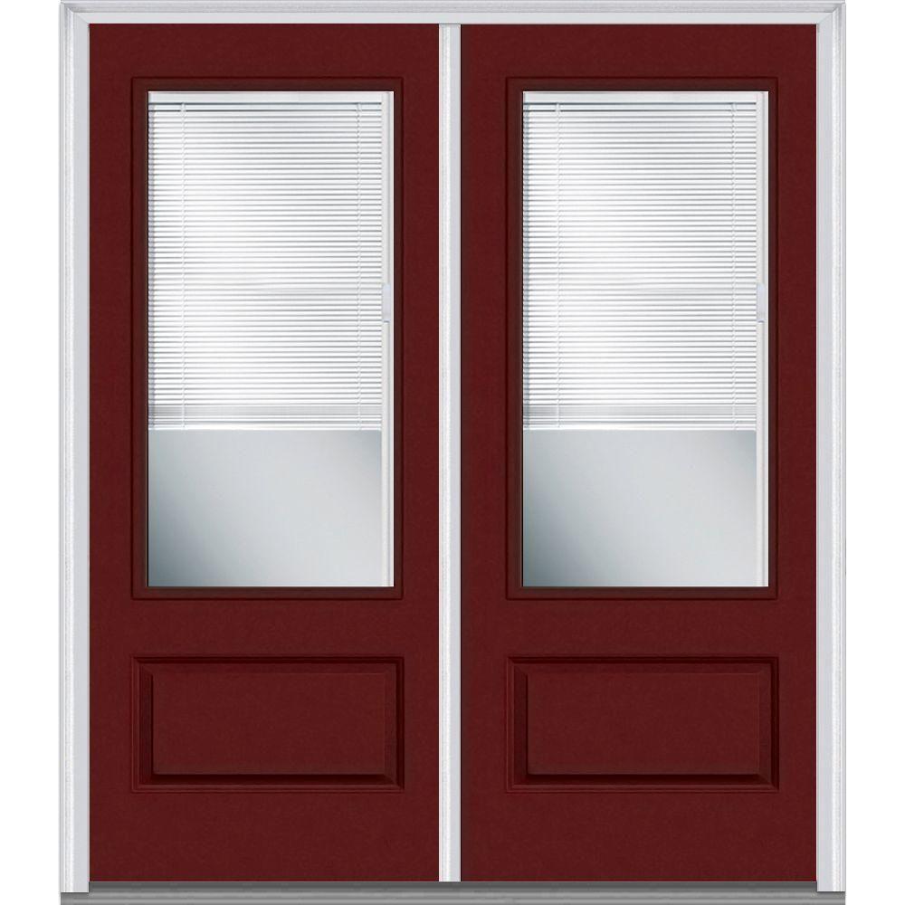 Mmi door in x in internal blinds clear lefthand lite