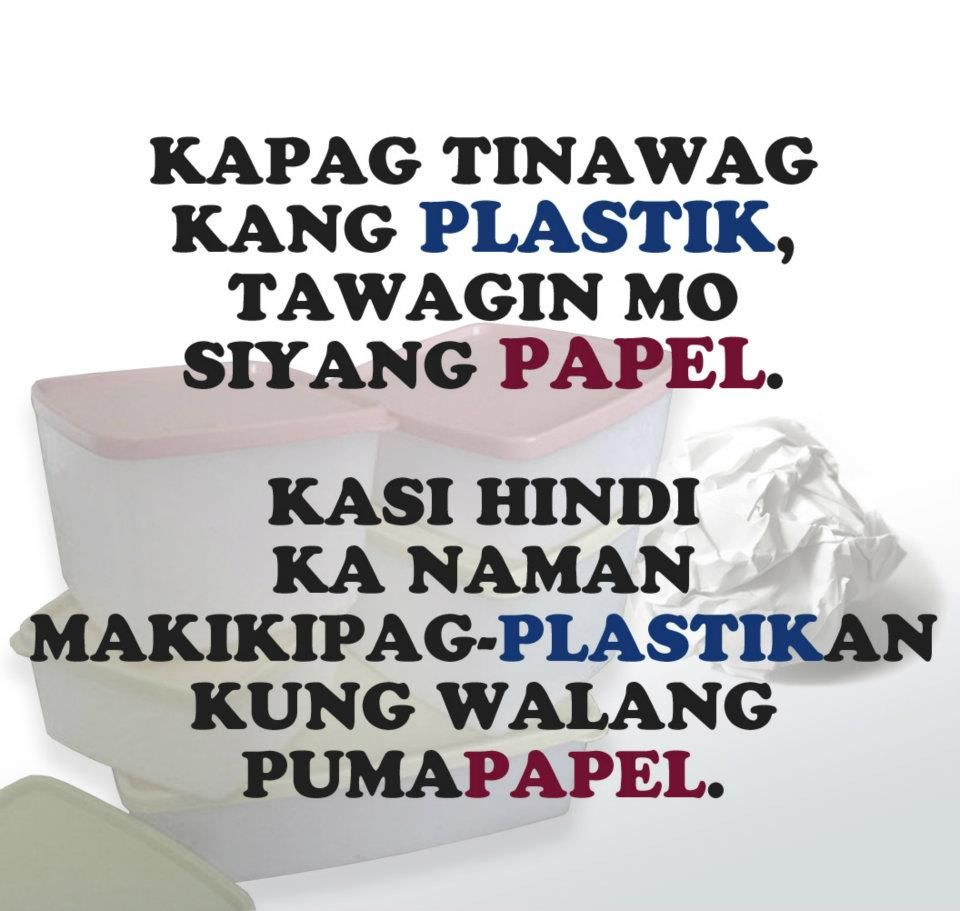 Plastik Patama Lines Hugot Friend Best