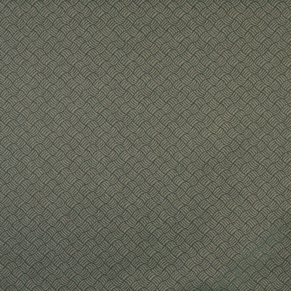 Dark Green Geometric Crypton Contract Grade Upholstery Fabric By