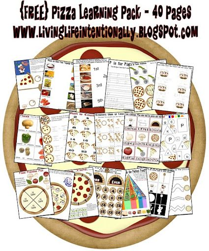 pizza theme worksheets preschool pinterest worksheets pizzas and school. Black Bedroom Furniture Sets. Home Design Ideas