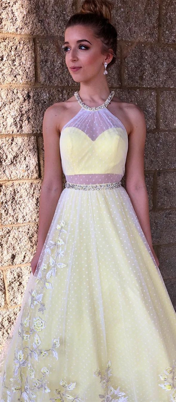 Prom dress long prom dress yellow long prom dress prom dress