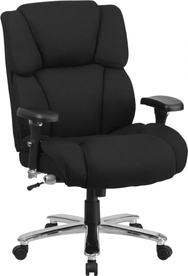 Husky Office Tall Intensive Use 400 Lb Black Fabric Executive Chair