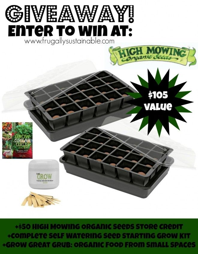 Win 50 High Mowing Store Credit Self Watering Seed Starting Grow Kit 24 Cell With Easy Grow Fertilizer Seed Starting Ki Organic Seeds Seed Starting Mowing