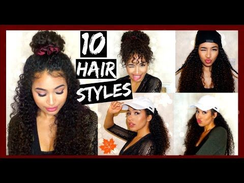 FallWinter Curly Hairstyles With Satin Accessories Lana - Curly hairstyle youtube
