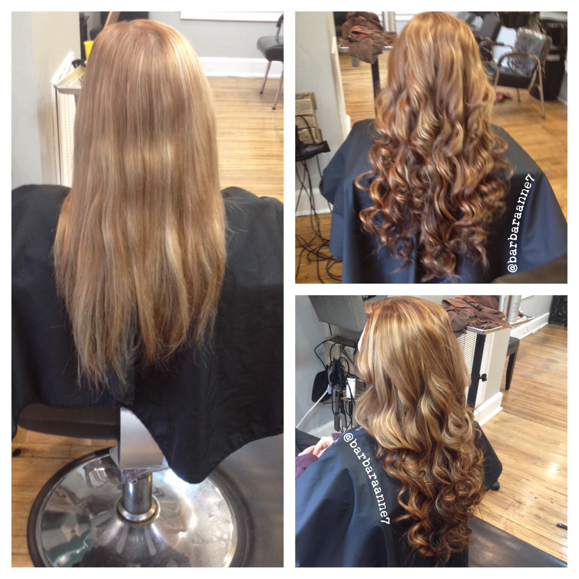 Highlights Lowlights Kenra Color Copper Red Blonde DreamCatcher Hair Extensions