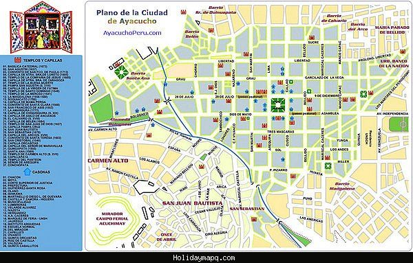 nice Lima Map Tourist Attractions Holidaymapq Pinterest Lima