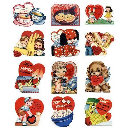 Vintage Valentines Printable and Adorable  Vintage valentines