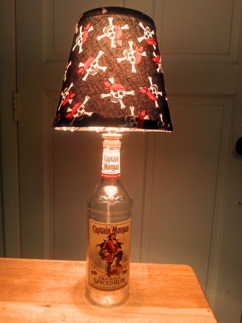 Captain morgan bottle lamp by jim w diy show off page for Things to make out of liquor bottles