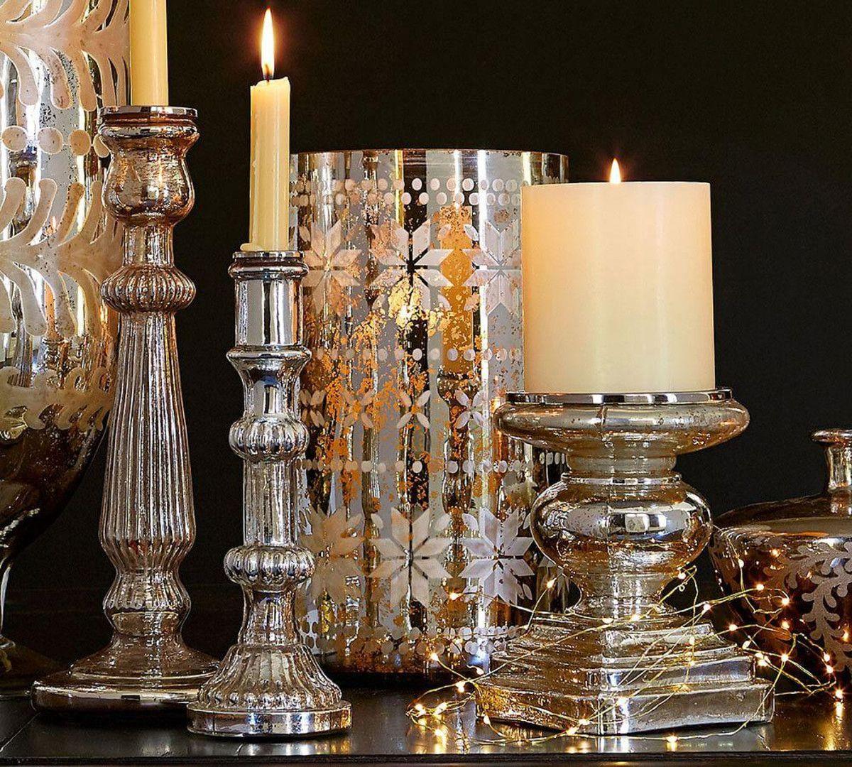 Love candles at Christmas Pottery barn christmas