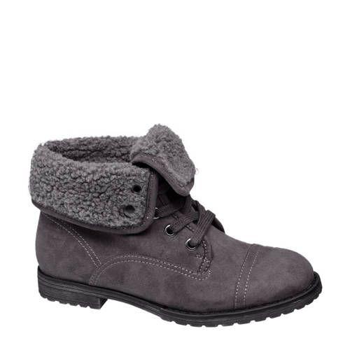 VanHaren Graceland gevoerde laarzen zwart