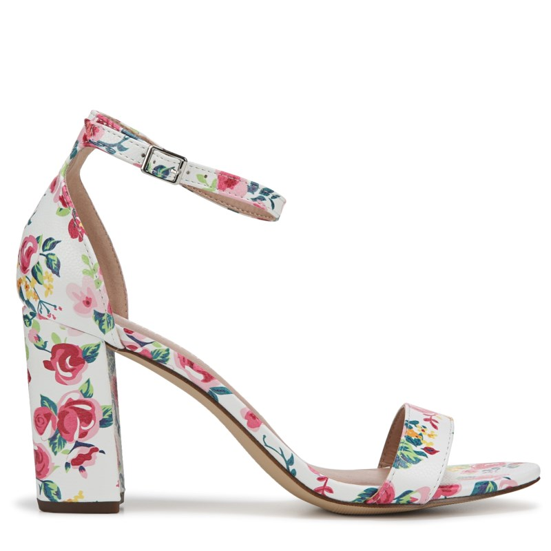 9b6a6d18f53 Madden Girl Women s Beella Ankle Strap Sandals (White Floral Multi ...