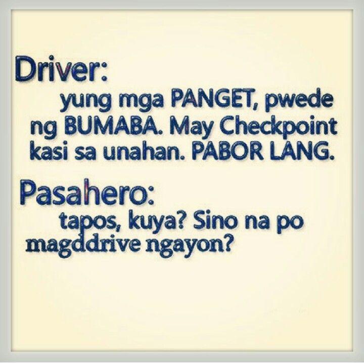 Funny Meme Quotes Tagalog : Driver at pasahero pinoy humor pinterest