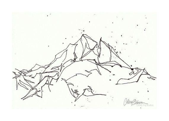 Resultat De Recherche D Images Pour Dessin Noir Et Blanc Mont Blanc