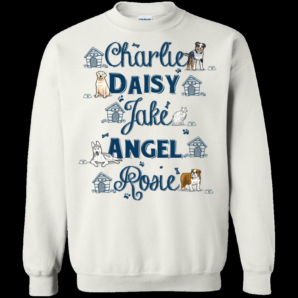 Pet Names Sweatshirt For Dog Lovers