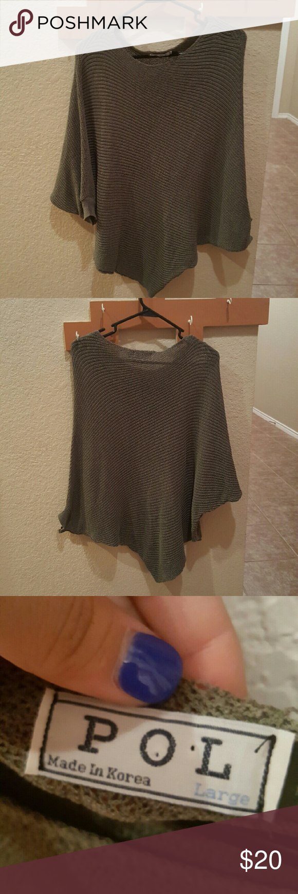 GRAYISH GREEN SWEATER Such a beautiful seater great for fall! And of course winter. Sweaters