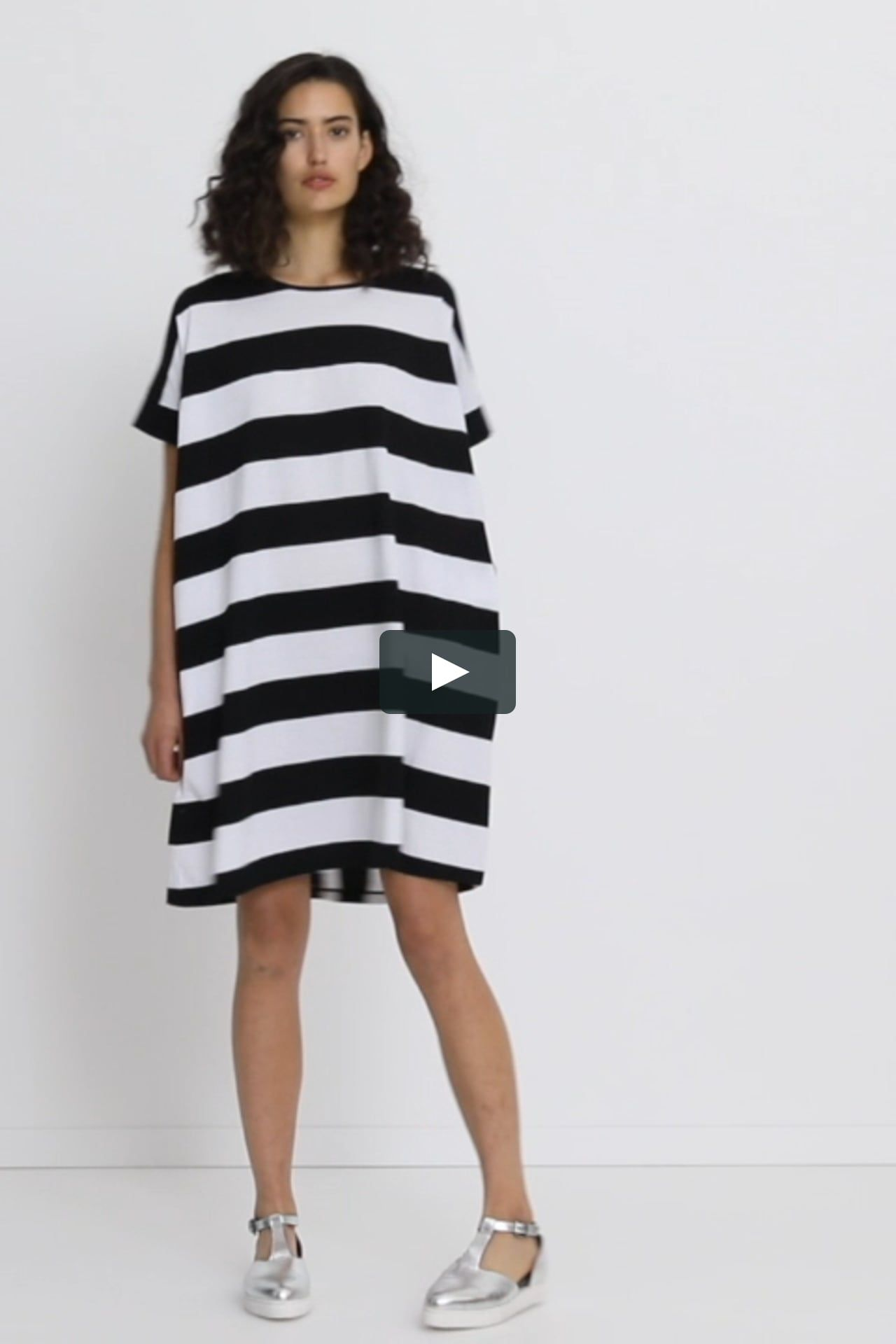 16827e5f6fd The Block Striped Dress features horizontal lines across the front and a  mixture of ...