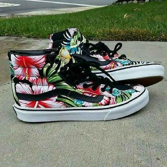 vans sk8 hi hawaiian floral