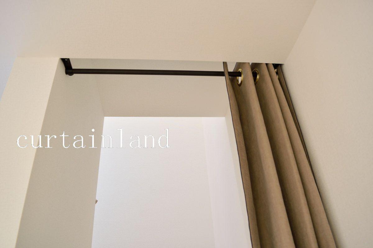 階段の間仕切りをカーテンでモダンにコーディネート 2020 部屋の