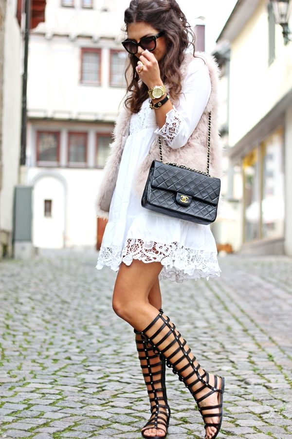 Gladiator Sandals Hippie Kleid Mode Style Und Anziehsachen