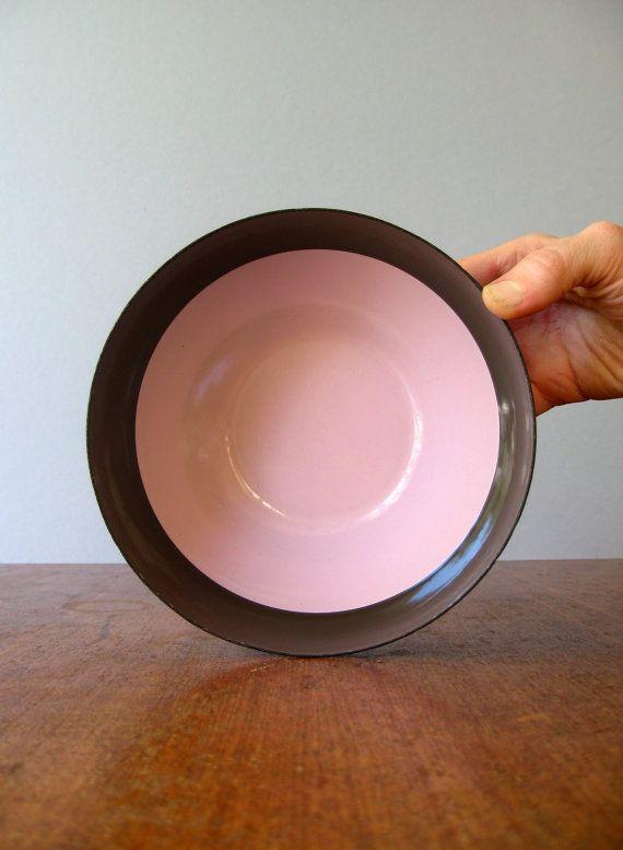 Mid Century Arabia Finel Enamel Color Block Bowl  Kaj by luola, $48.00