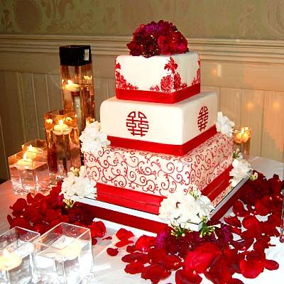 Follow #Professionalimage #EventPhotography – for Rates, Info  Availability ~ Red Chinese theme wedding cake