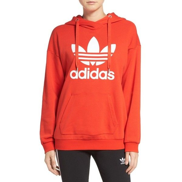 Women S Adidas Originals Trefoil Hoodie 70 Liked On Polyvore