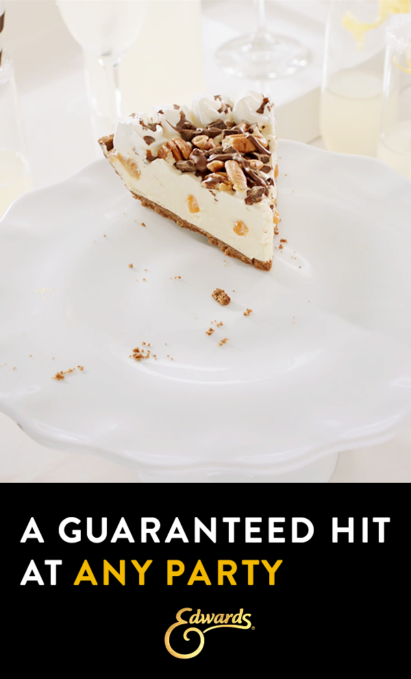 Velvety Layers Crushed Cookie Crumb Crust Own The Occasion With Edwards Desserts Desserts Cookie Crumbs Food