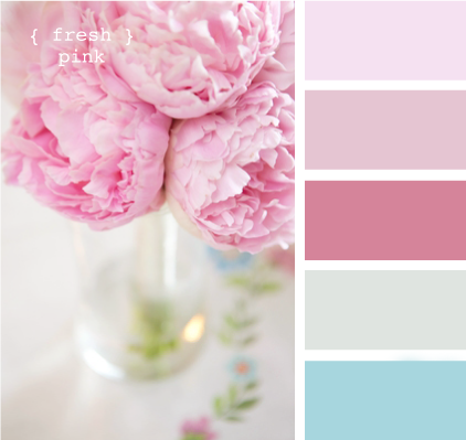 Vintage Rosa Shabby Chic Colour Palette For The Home