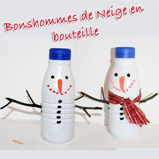 bonhomme de neige bouteille de lait - tête à modeler | bonhomme de