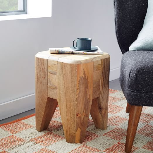 Blockwork Side Table | west elm | casa chaucha | Pinterest | Muebles ...