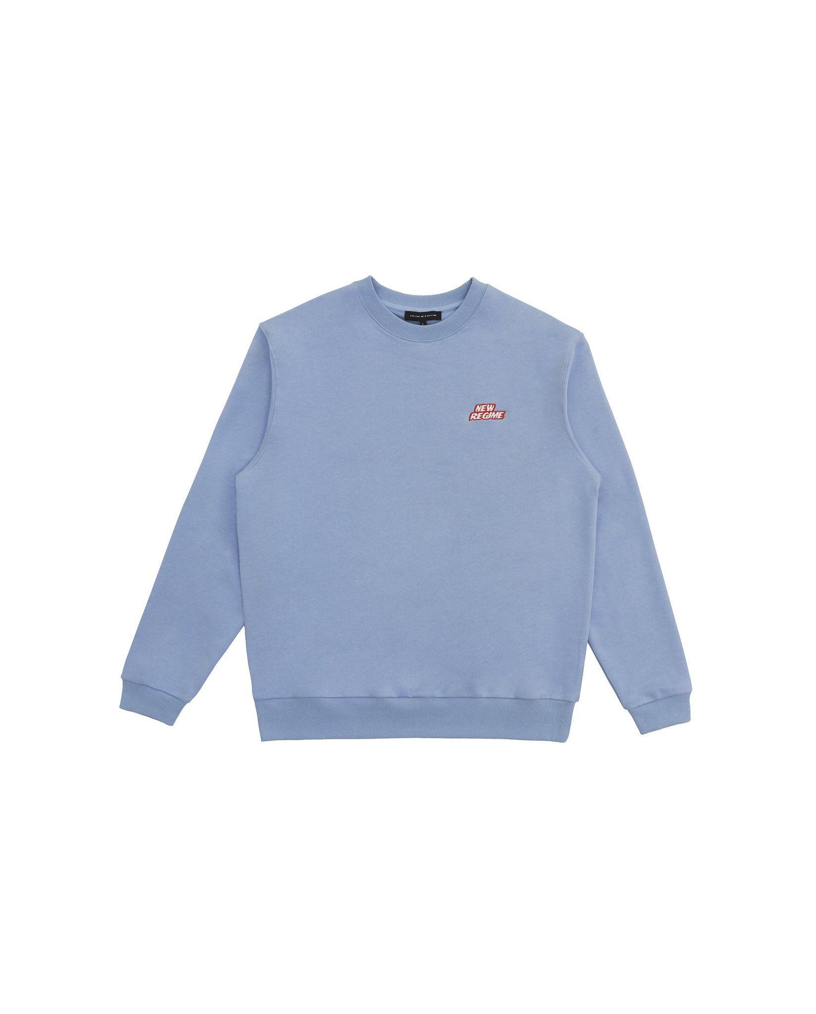 Classic Logo Crewneck Sweatshirt Baby Blue Sweatshirts Crew Neck Sweatshirt Classic Logo