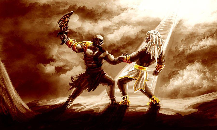 God Of War Kratos Vs Zeus Wallpaper God Of War Zeus