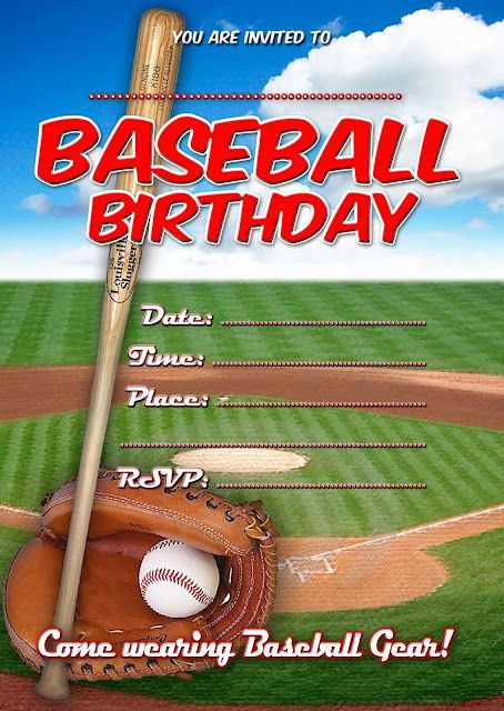 Baseball Party Printable Invitation