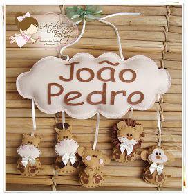 Enfeite de porta maternidade - Ursinha            Enfeite de porta maternidade - Anjinho       Enfeite de porta maternidade - Bailarina e ...