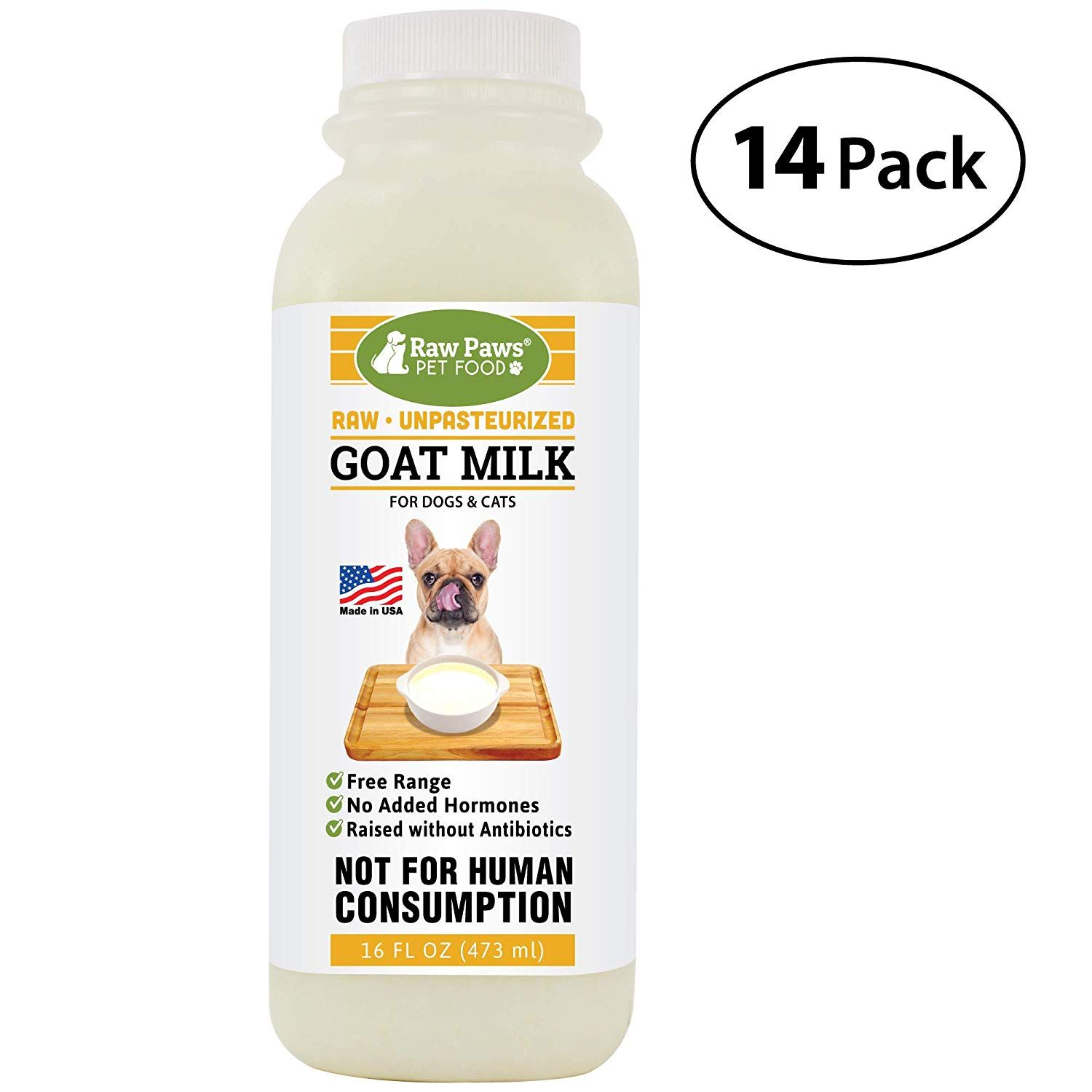 Raw Paws Pet Frozen Raw Goats Milk Dogs Cats Dog Food