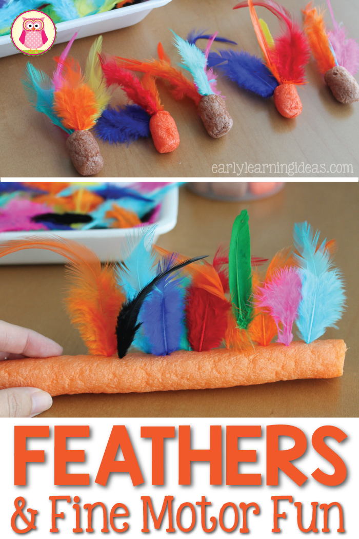 An Easy Feather Fine Motor Activity That Your Kids Will