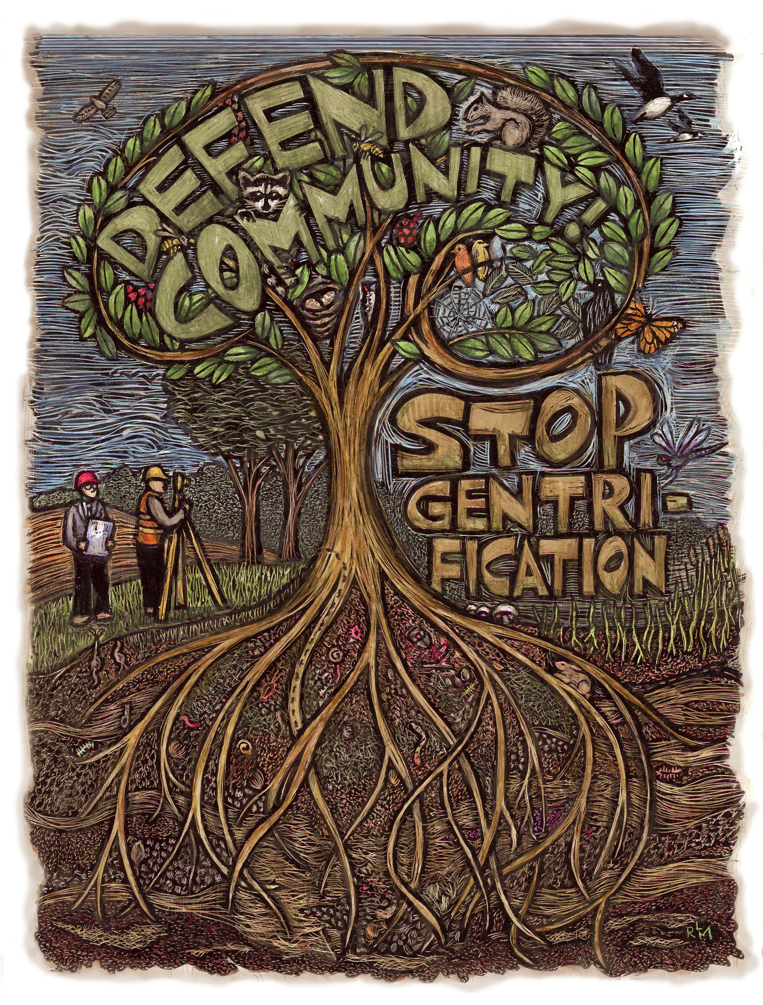 Defend Community Poster Art For Social Justice Ricardo Levins Morales Activist Art Political Art Protest Art