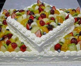 Torta alla frutta con panna torte nel 2019 buttercream for Decorazioni torte frutta e panna