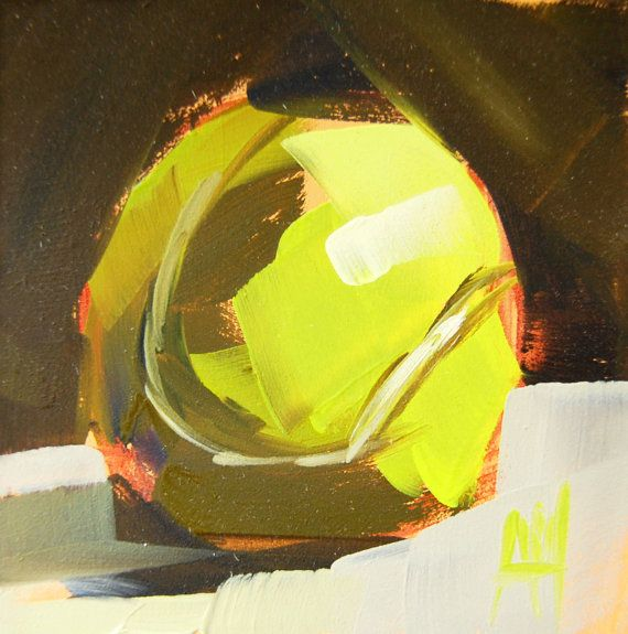 Tennis Anyone Tennis Ball Original Oil Painting By Angela Moulton Tennis Art Original Oil Original Oil Painting