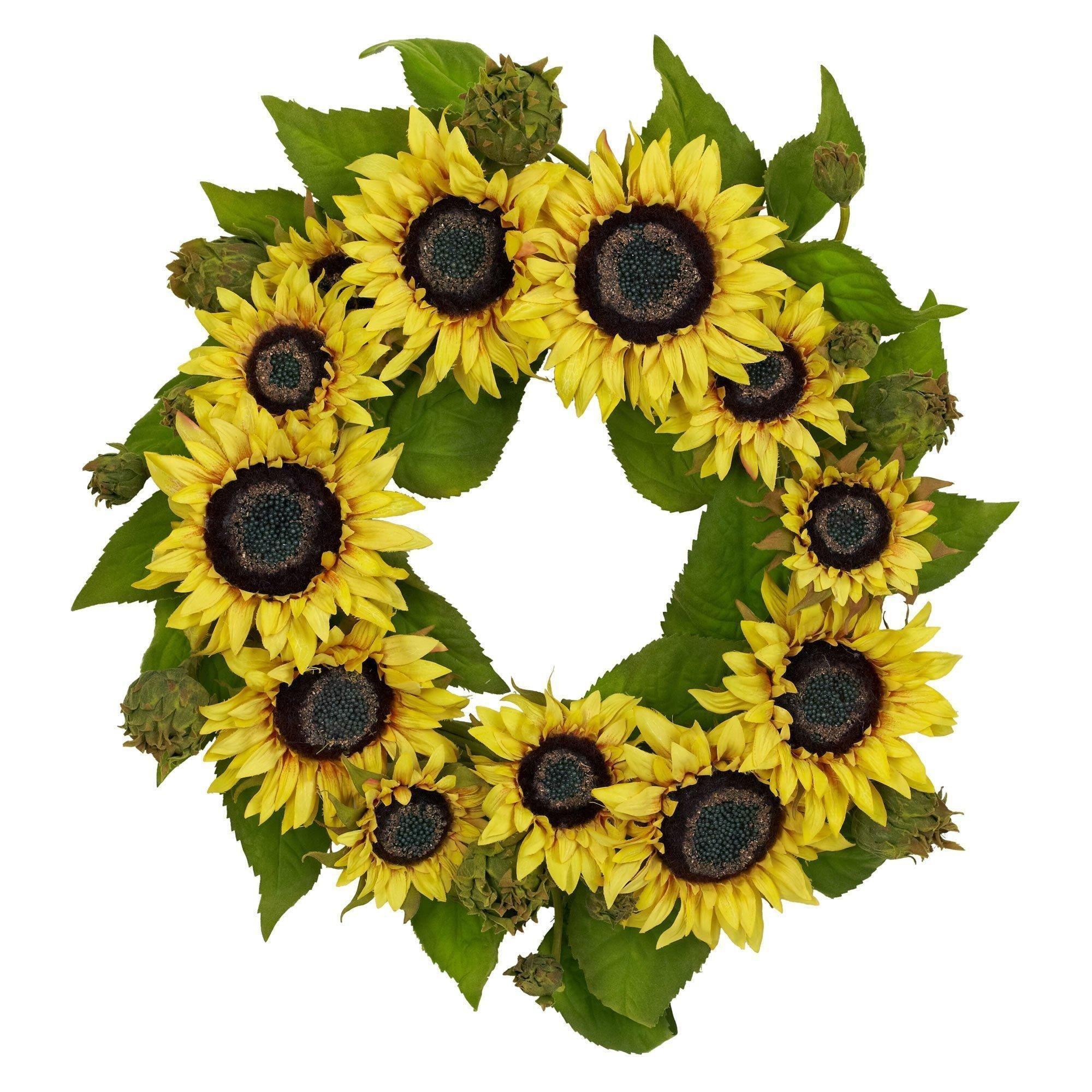 "Photo of 22 ""sunflower wreath"