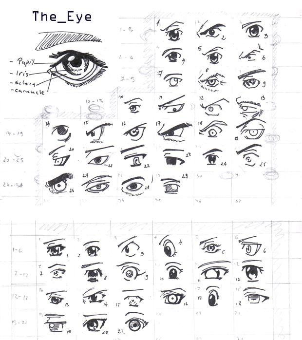 Characters REFERENCE Manga Eyes