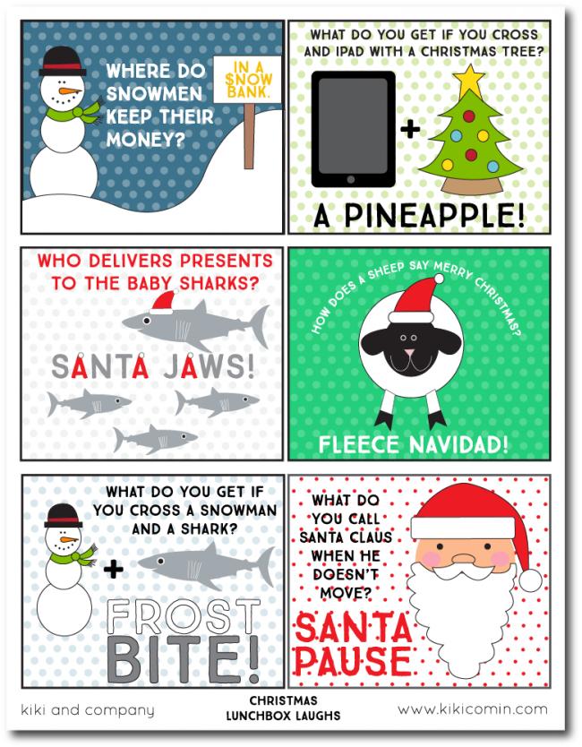 Christmas Lunchbox Laughs Christmas jokes, Christmas