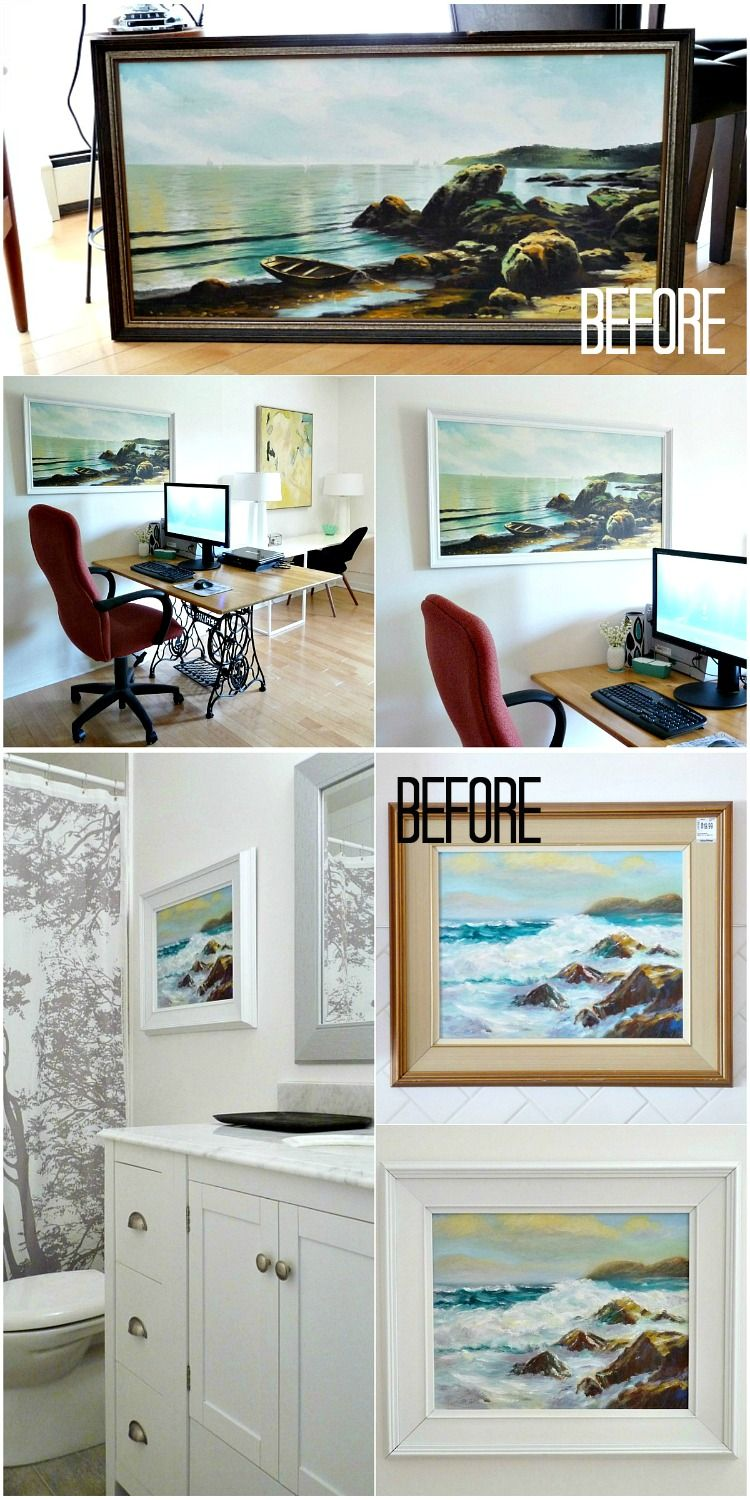 Thrift Store Art - Refreshed for the Townhouse | Dans le Lakehouse